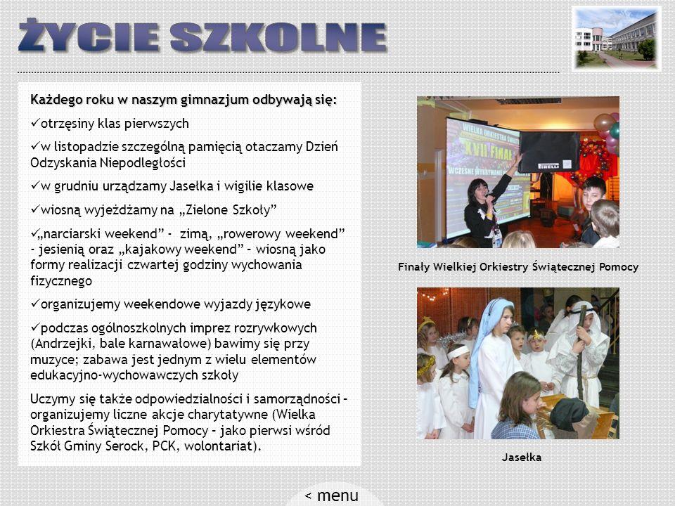 Gimnazjum w Zegrzu: szkoła położona jest na malowniczej skarpie nad samym Zalewem Zegrzyńskim jesteśmy w czołówce gminy pod względem wyników egzaminu