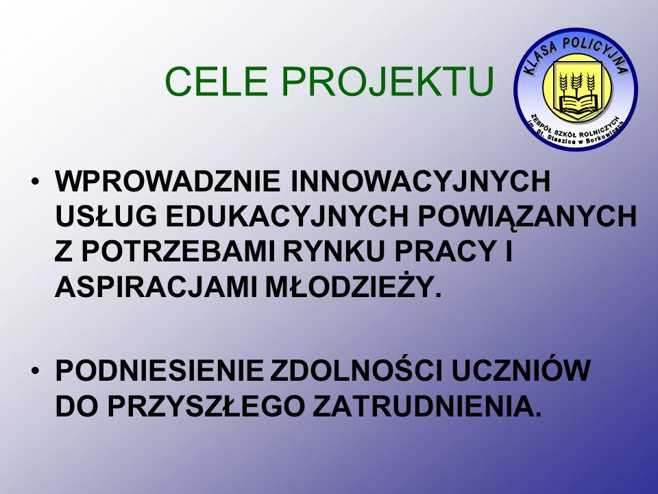 WYJAZDY STUDYJNE W ramach zadań objętych projektem zorganizujemy trzy wyjazdy: Sąd Rejonowy i Komenda Policji w Przysusze, Komenda Wojewódzka Policji w Radomiu, Centralne Laboratorium Kryminalistyki w Warszawie oraz CSzP w Legionowie (wyjazd 2-dniowy)