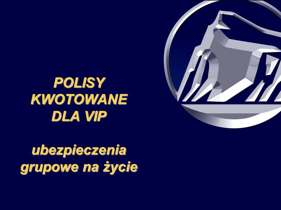 POLISY KWOTOWANE DLA VIP ubezpieczenia grupowe na życie