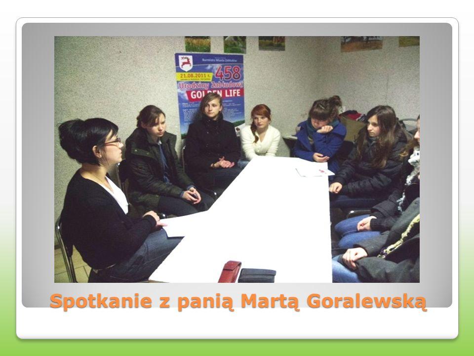 Spotkanie z panią Martą Goralewską