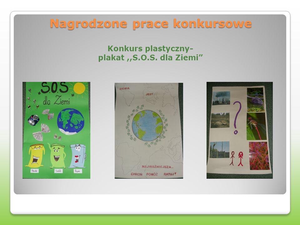 Nagrodzone prace konkursowe Nagrodzone prace konkursowe Konkurs plastyczny- plakat,,S.O.S.