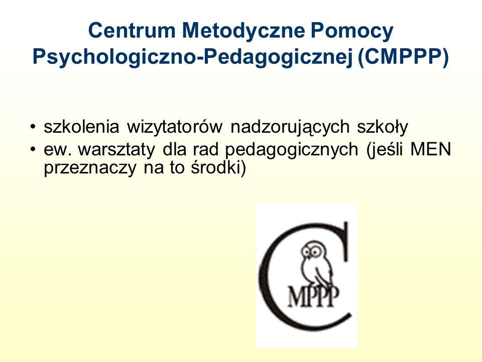 Centrum Metodyczne Pomocy Psychologiczno-Pedagogicznej (CMPPP) szkolenia wizytatorów nadzorujących szkoły ew.