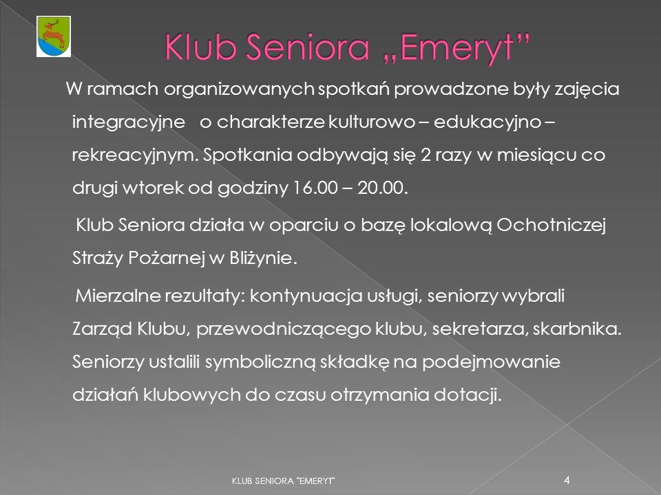 KLUB SENIORA EMERYT 25