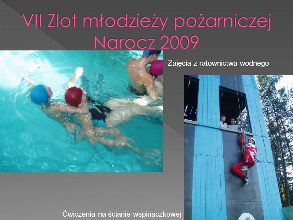 Zajęcia z ratownictwa wodnego Ćwiczenia na ścianie wspinaczkowej
