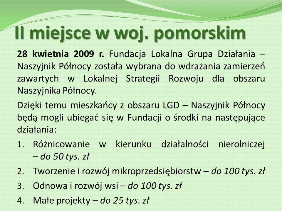 II miejsce w woj.pomorskim 28 kwietnia 2009 r.