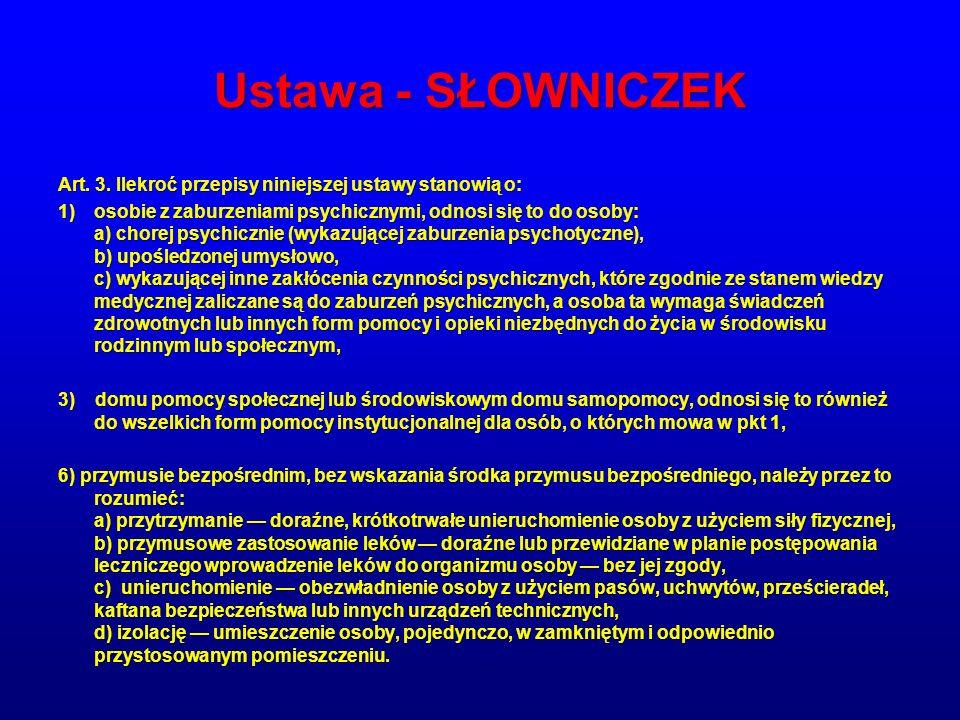 Ustawa - SŁOWNICZEK Art.3.