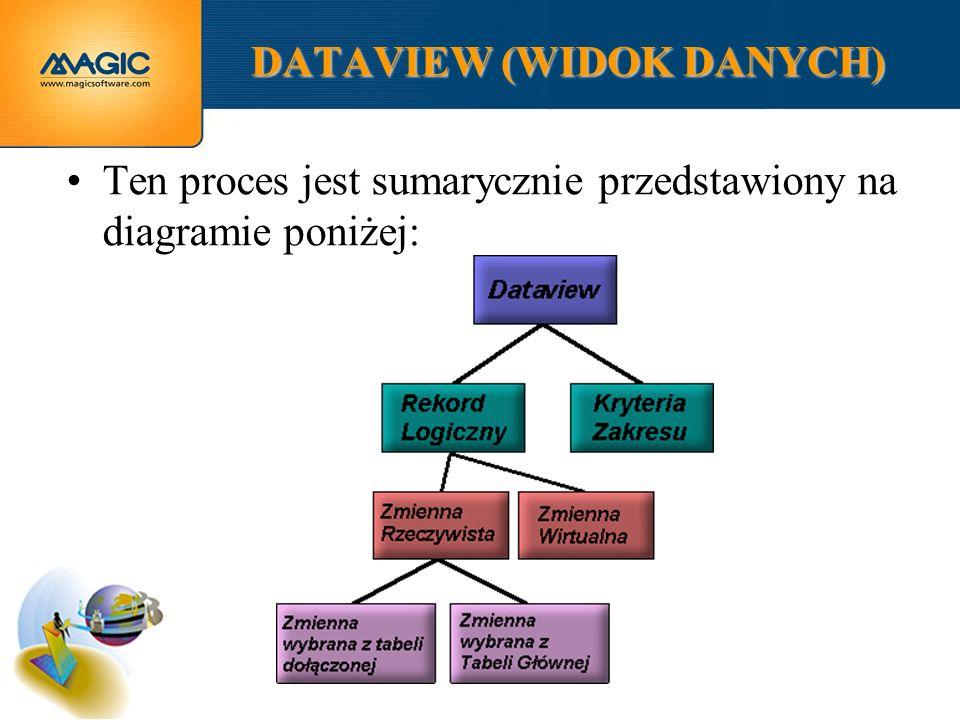 DATAVIEW (WIDOK DANYCH) Ten proces jest sumarycznie przedstawiony na diagramie poniżej: