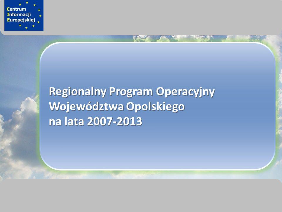 sprawimy, że Twój BIZNES rozkwitnie Regionalny Program Operacyjny Województwa Opolskiego na lata 2007-2013