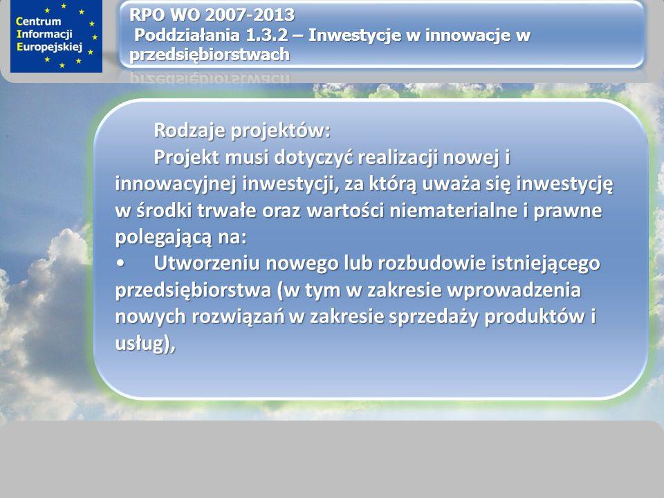 sprawimy, że Twój BIZNES rozkwitnie Rodzaje projektów: Projekt musi dotyczyć realizacji nowej i innowacyjnej inwestycji, za którą uważa się inwestycję w środki trwałe oraz wartości niematerialne i prawne polegającą na: Utworzeniu nowego lub rozbudowie istniejącego przedsiębiorstwa (w tym w zakresie wprowadzenia nowych rozwiązań w zakresie sprzedaży produktów i usług),Utworzeniu nowego lub rozbudowie istniejącego przedsiębiorstwa (w tym w zakresie wprowadzenia nowych rozwiązań w zakresie sprzedaży produktów i usług),