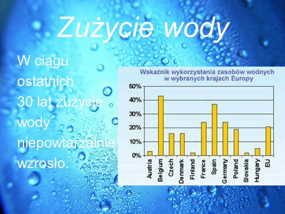 Ile zużywamy wody miesięcznie w naszej miejscowości.