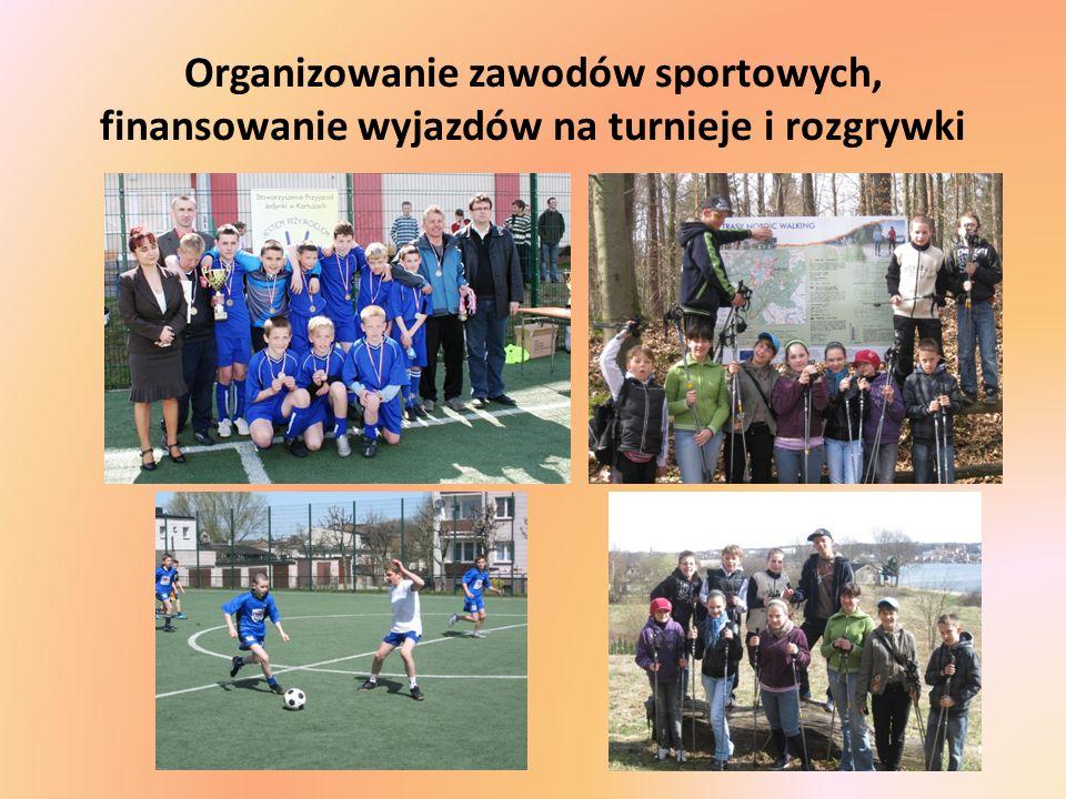 Organizowanie zawodów sportowych, finansowanie wyjazdów na turnieje i rozgrywki