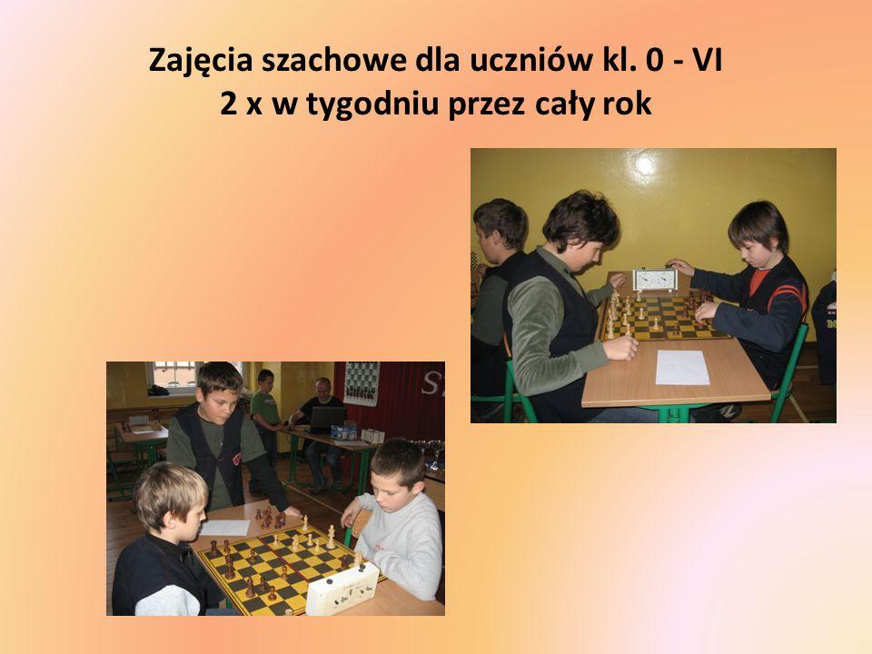 Zajęcia szachowe dla uczniów kl. 0 - VI 2 x w tygodniu przez cały rok