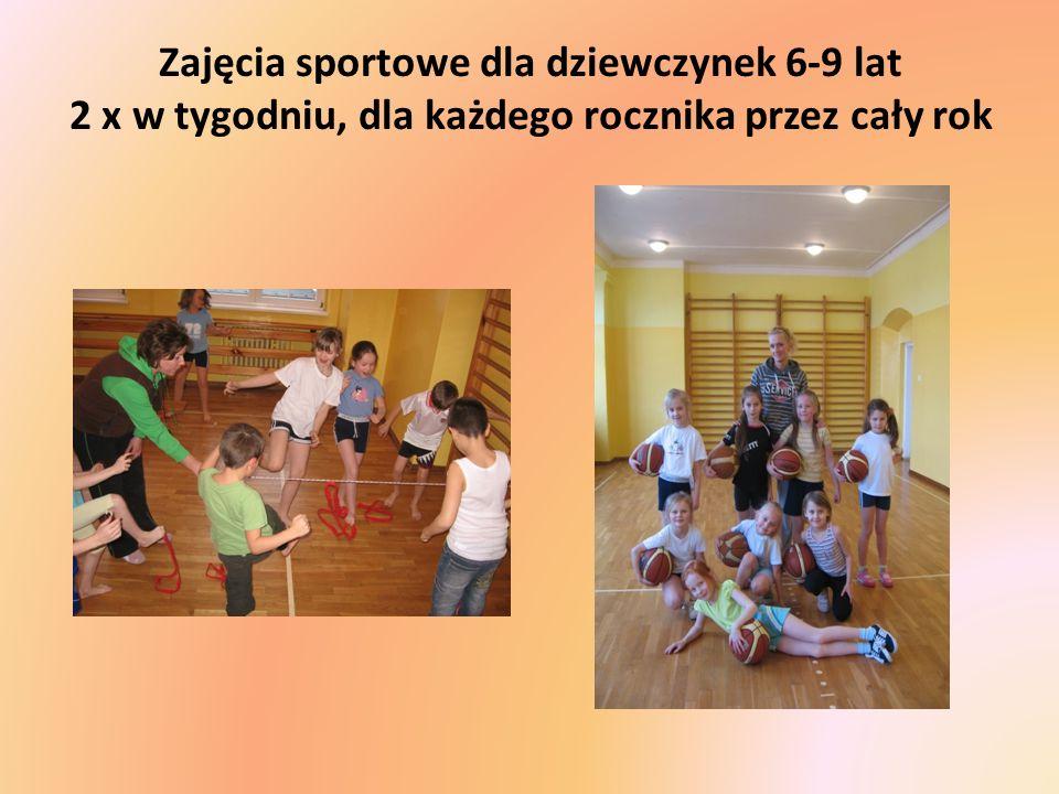 Zajęcia sportowe dla dziewczynek 6-9 lat 2 x w tygodniu, dla każdego rocznika przez cały rok