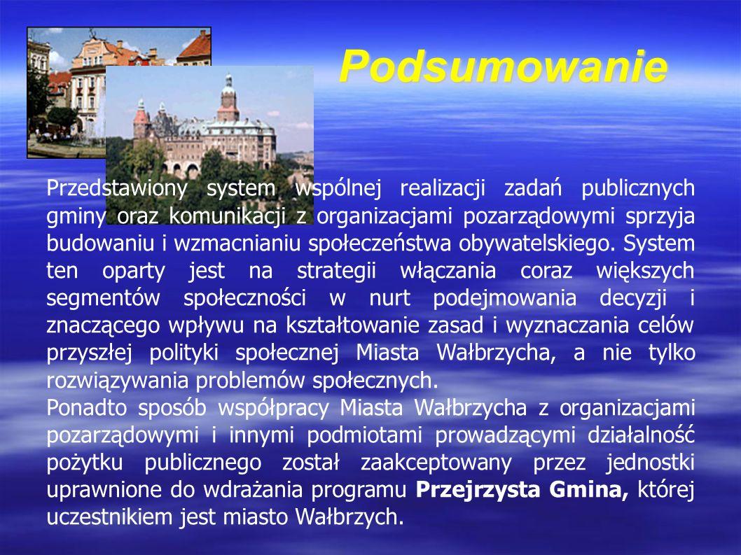 Przedstawiony system wspólnej realizacji zadań publicznych gminy oraz komunikacji z organizacjami pozarządowymi sprzyja budowaniu i wzmacnianiu społeczeństwa obywatelskiego.