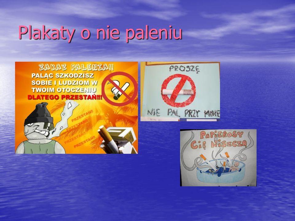 Plakaty o nie paleniu