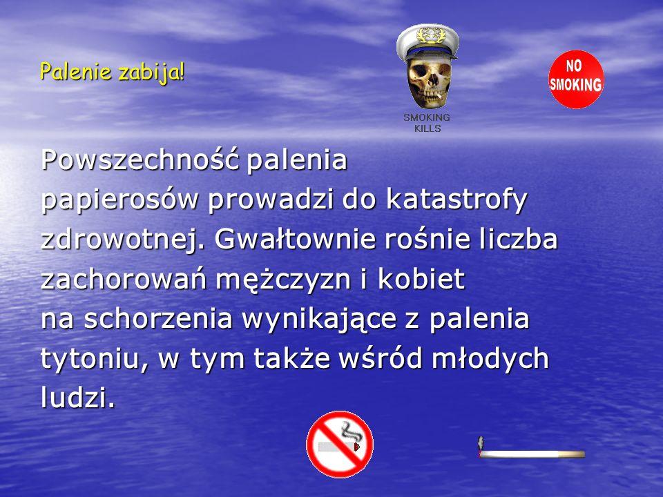Dym tytoniowy szkodzi także nie palącym Palenie papierosów powoduje, że do płuc dostaje się powietrze zanieczyszczone dymem, w którym znajduje się wiele szkodliwych składników.