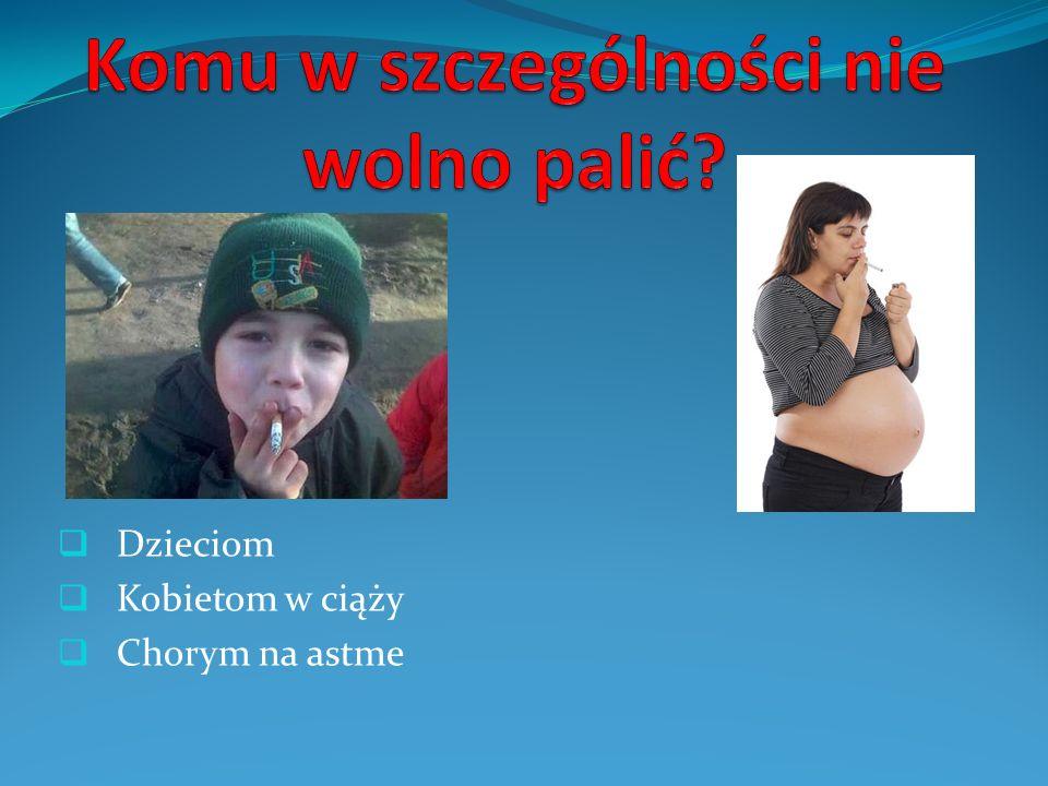 Dzieciom Kobietom w ciąży Chorym na astme