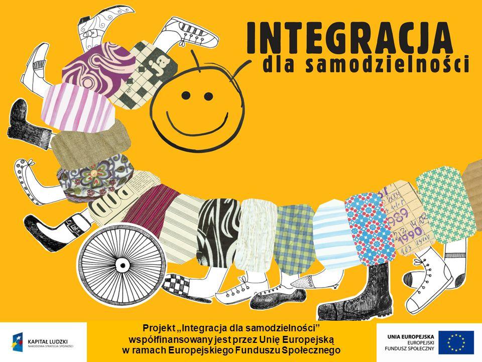 Projekt Integracja dla samodzielności współfinansowany jest przez Unię Europejską w ramach Europejskiego Funduszu Społecznego