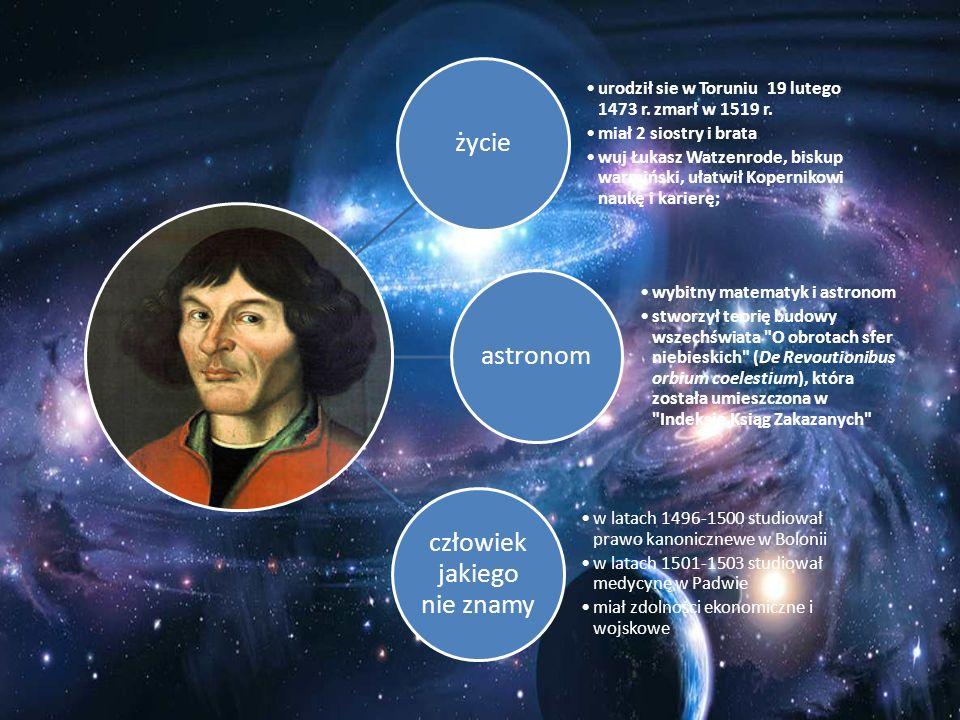 życie urodził sie w Toruniu 19 lutego 1473 r. zmarł w 1519 r. miał 2 siostry i brata wuj Łukasz Watzenrode, biskup warmiński, ułatwił Kopernikowi nauk
