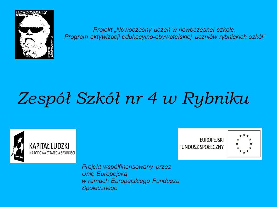 Zespół Szkół nr 4 w Rybniku Projekt Nowoczesny uczeń w nowoczesnej szkole.