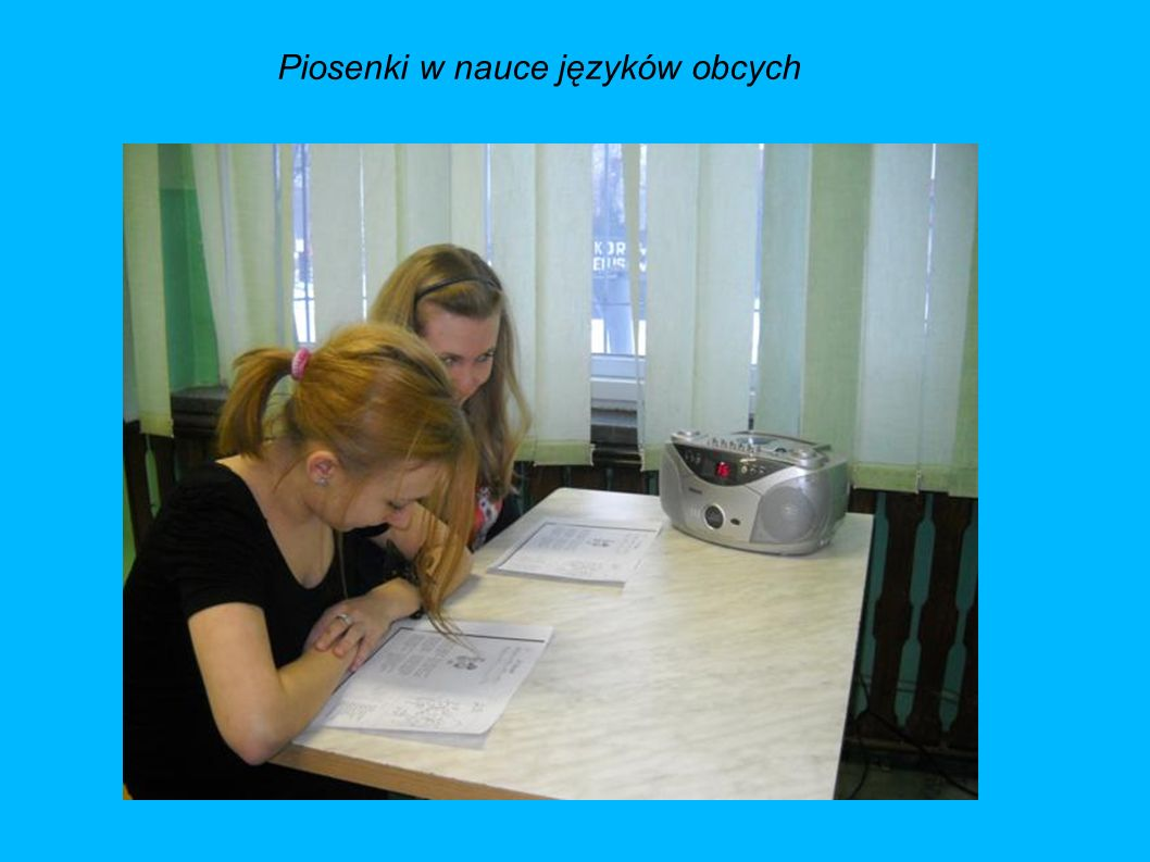 Piosenki w nauce języków obcych
