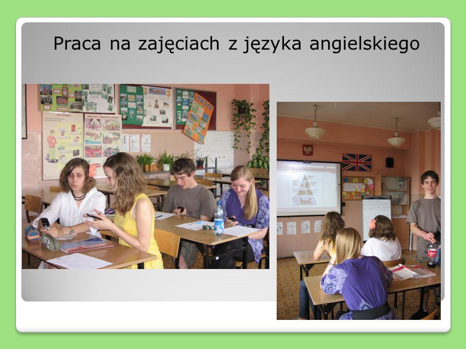 Praca na zajęciach z języka angielskiego