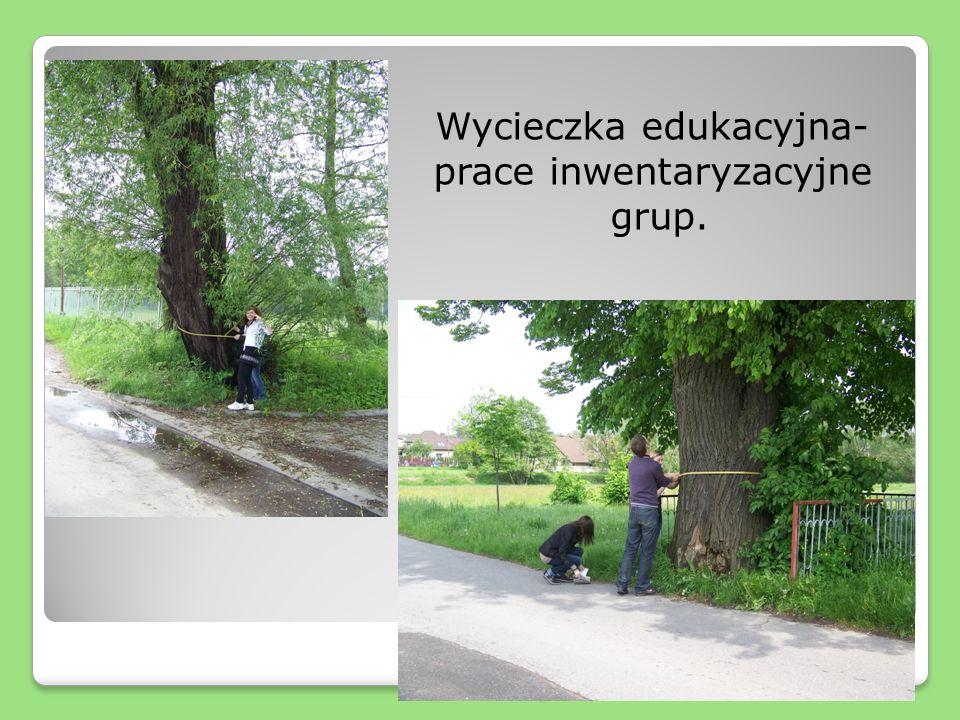 Wycieczka edukacyjna- prace inwentaryzacyjne grup.