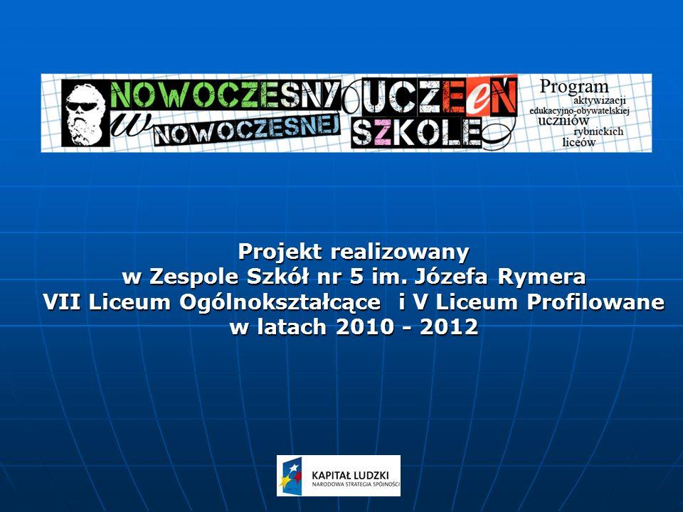 Projekt realizowany w Zespole Szkół nr 5 im.