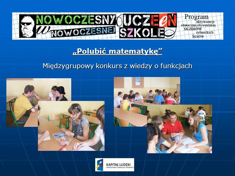 Polubić matematykę Międzygrupowy konkurs z wiedzy o funkcjach