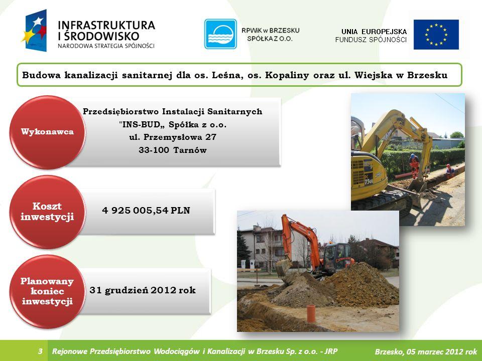 4 Budowa kanalizacji sanitarnej dla os.Leśna, os.
