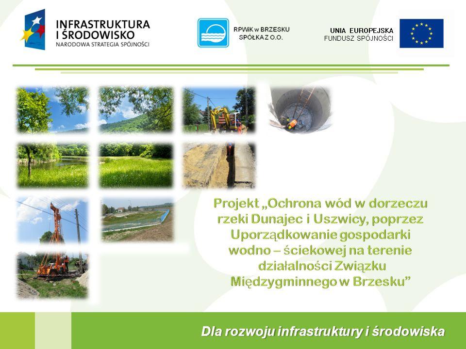 UNIA EUROPEJSKA FUNDUSZ SPÓJNOŚCI Dla rozwoju infrastruktury i środowiskaDla rozwoju infrastruktury i środowiska