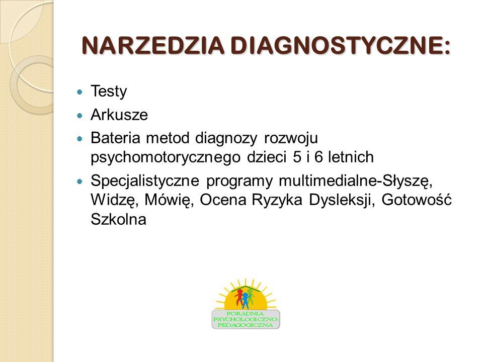 NARZEDZIA DIAGNOSTYCZNE: Testy Arkusze Bateria metod diagnozy rozwoju psychomotorycznego dzieci 5 i 6 letnich Specjalistyczne programy multimedialne-S