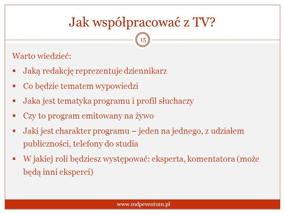 Jak współpracować z TV.
