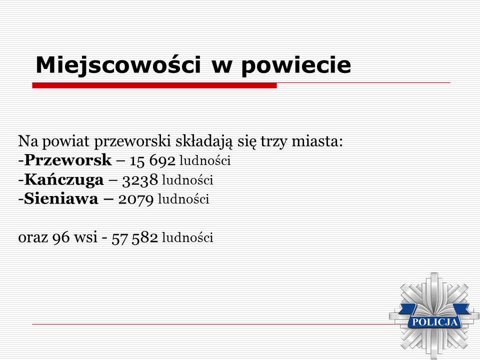 Miejscowości w powiecie Na powiat przeworski składają się trzy miasta: -Przeworsk – 15 692 ludności -Kańczuga – 3238 ludności -Sieniawa – 2079 ludnośc