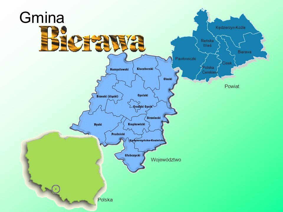 Gmina Kędzierzyn-Koźle Cisek Bierawa Pawłowiczki Reńska Wieś Polska Cerekiew Polska Województwo Powiat