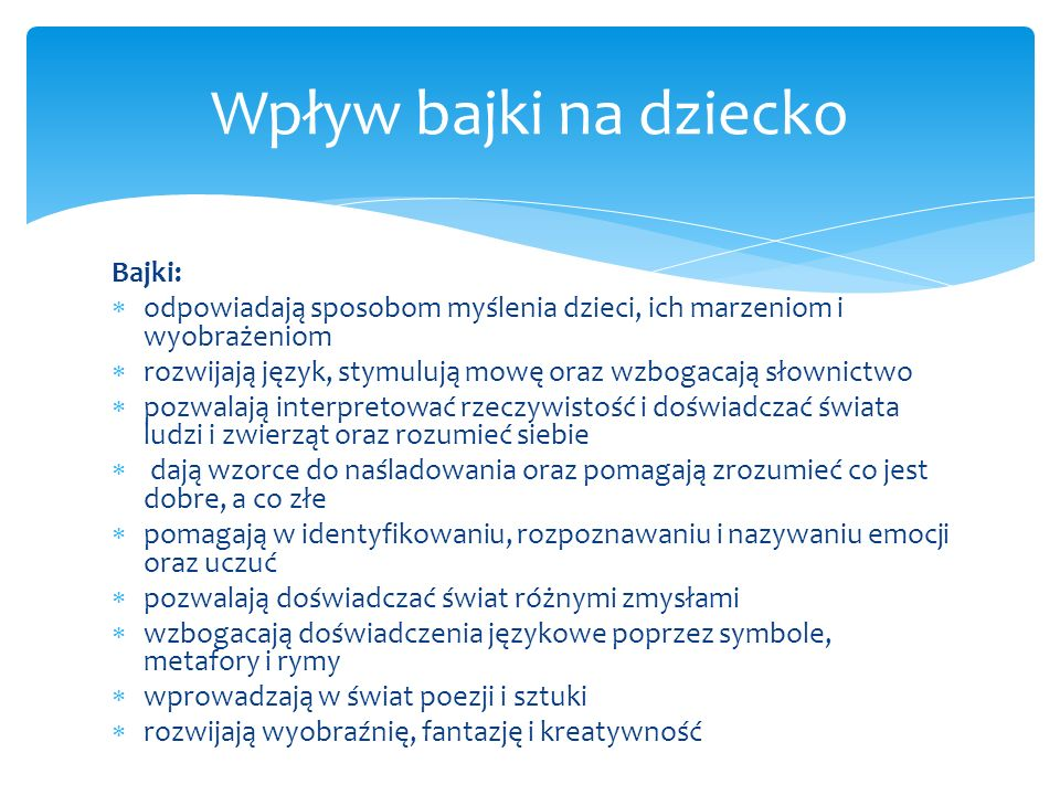 Brett D.(2003) Bajki, które leczą cz. II, Gdańskie Wydawnictwo Psychologiczne, Gdańsk.
