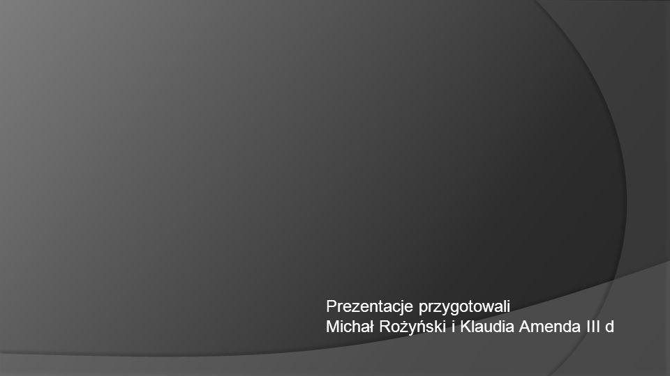 Prezentacje przygotowali Michał Rożyński i Klaudia Amenda III d