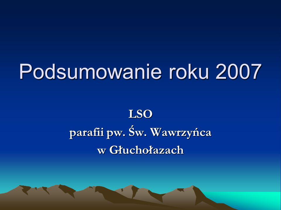 Podsumowanie roku 2007 W roku 2006 A w roku 2007 ????.