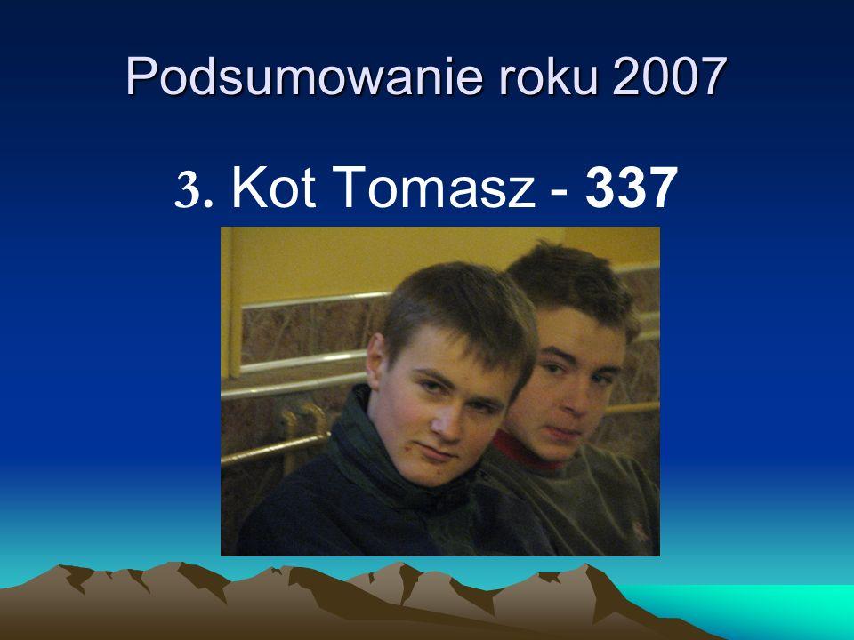 Podsumowanie roku 2007 3. Kot Tomasz - 337