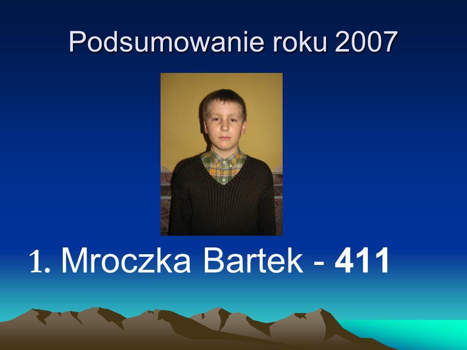 Podsumowanie roku 2007 1. M roczka Bartek - 411