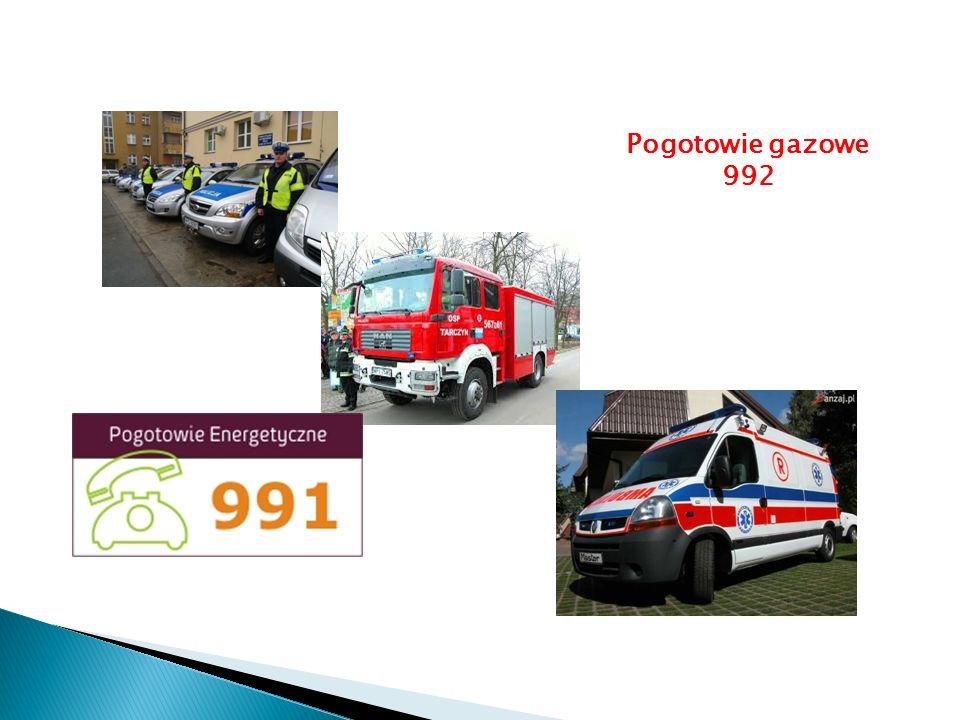 Pogotowie gazowe 992
