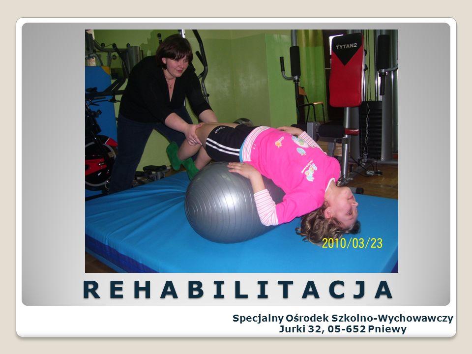 REWALIDACJA - zajęcia logopedyczne - zajęcia socjoterapeutyczne - korekcyjne wad postawy - rehabilitacja REWALIDACJA - zajęcia logopedyczne - zajęcia socjoterapeutyczne - korekcyjne wad postawy - rehabilitacja Specjalny Ośrodek Szkolno-Wychowawczy Jurki 32, 05-652 Pniewy