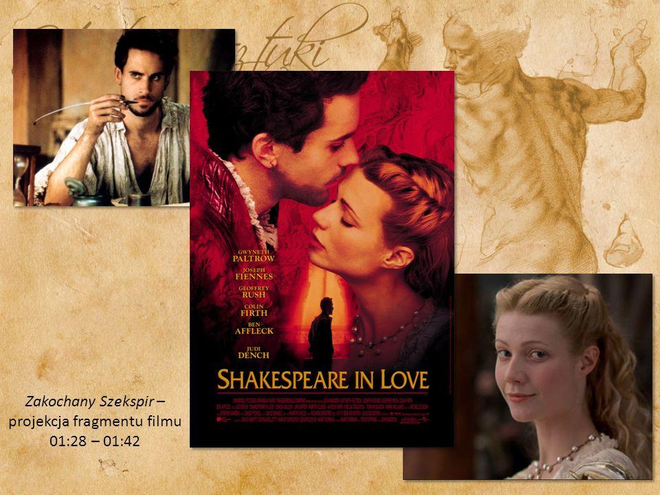 Zakochany Szekspir – projekcja fragmentu filmu 01:28 – 01:42
