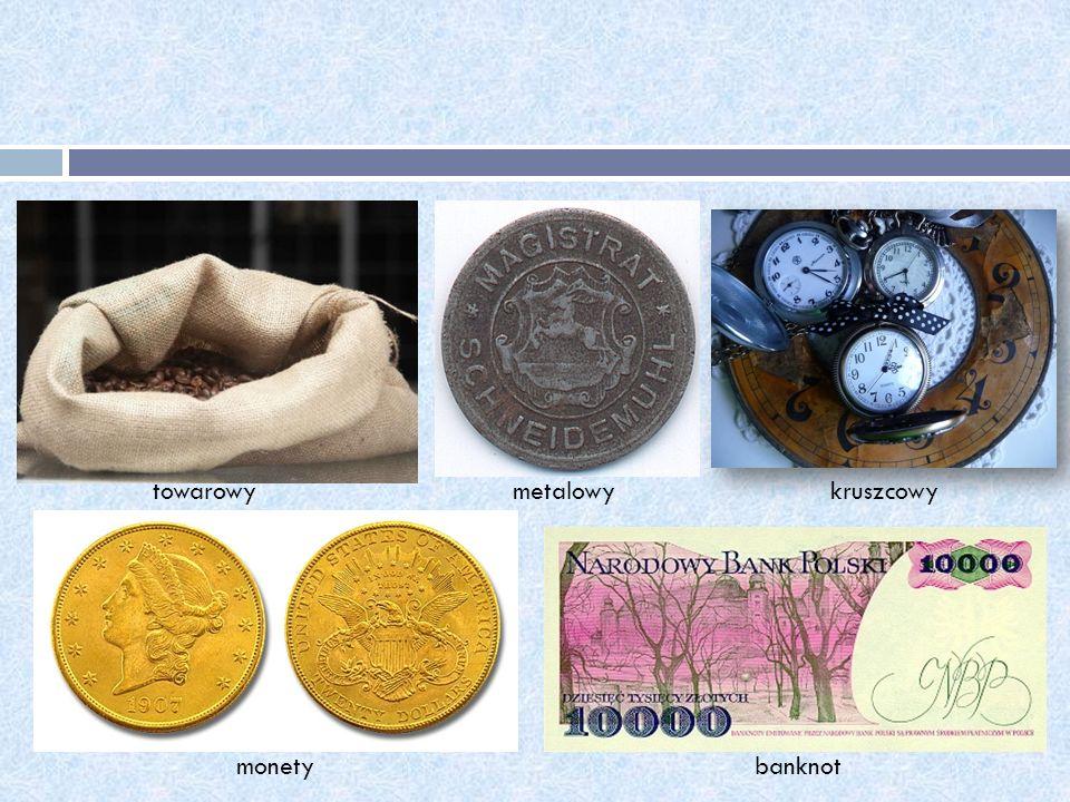 towarowymetalowykruszcowy monetybanknot