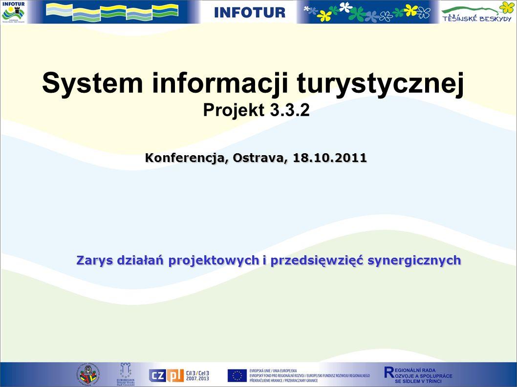 System informacji turystycznej Projekt 3.3.2 Konferencja, Ostrava, 18.10.2011 Zarys działań projektowych i przedsięwzięć synergicznych