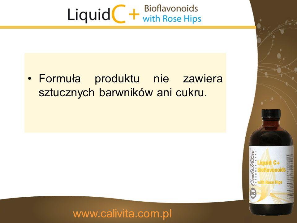 Formuła produktu nie zawiera sztucznych barwników ani cukru. www.calivita.com.pl