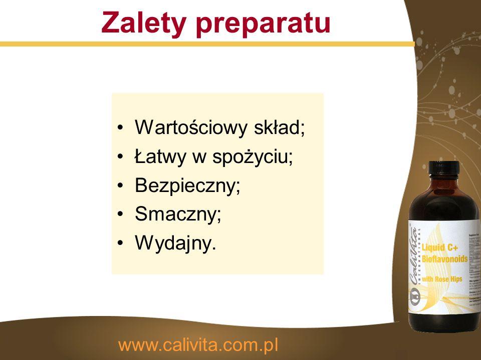 Zalety preparatu Wartościowy skład; Łatwy w spożyciu; Bezpieczny; Smaczny; Wydajny.