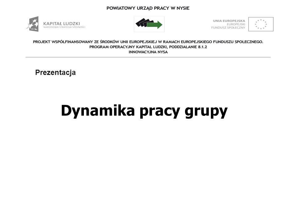 Prezentacja Dynamika pracy grupy Prezentacja