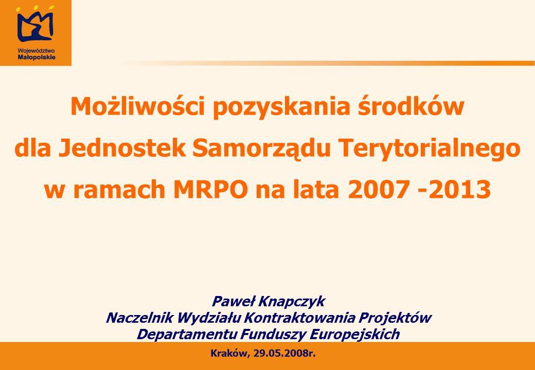 Projekty zrealizowane w ramach ZPORR na lata 2004 -2006 w powiecie wielickim Liczba projektów zrealizowanych na terenie powiatu wielickiego w ramach Zintegrowanego Programu Operacyjny Rozwoju Regionalnego na lata 2004 -2006 32 projekty w tym: Projekty zrealizowane w ramach Europejskiego Funduszy Społecznego (min.