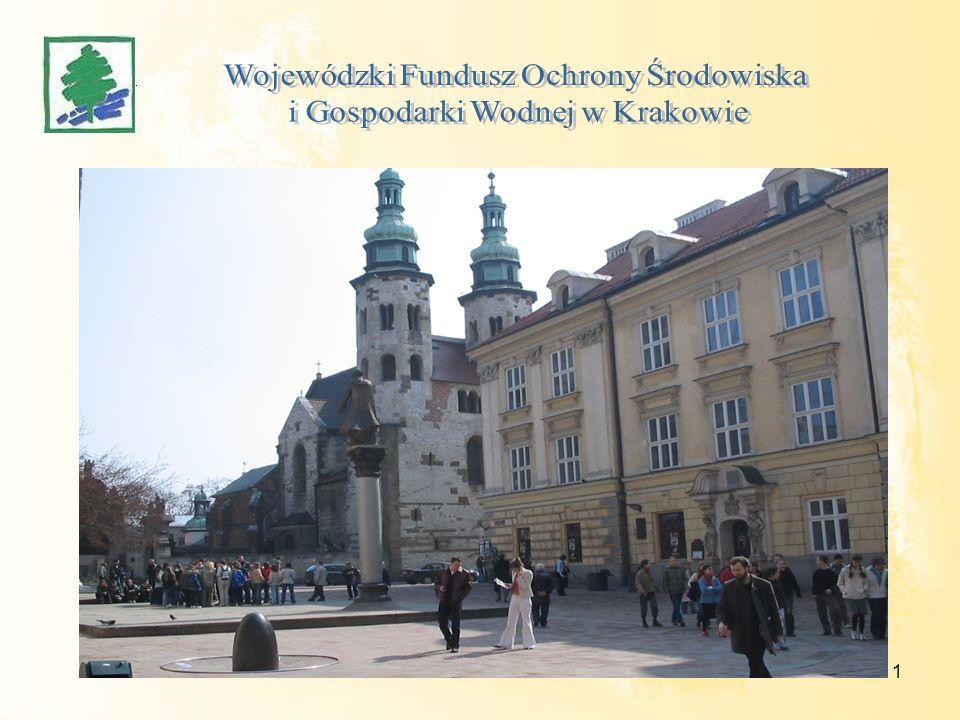 Możliwości finansowania inwestycji ekologicznych ze środków WFOŚiGW w Krakowie Kraków 29 maja 2008 r.